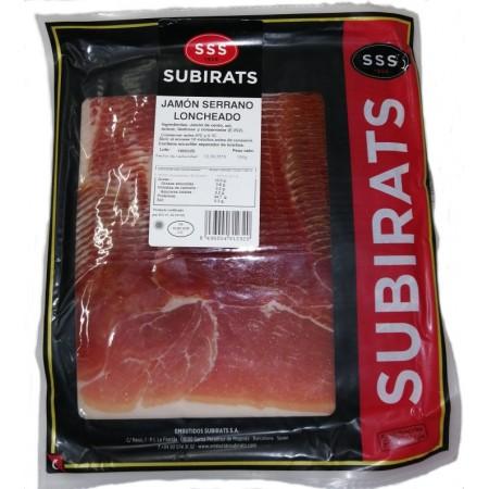 Хамон из мяса белых свиней Subirats Jamon Serrano Reserva 500 г в нарезке