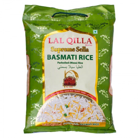 Рис басмати индийский Lal Qilla Supreme Sella basmati rice parboiled 5 кг
