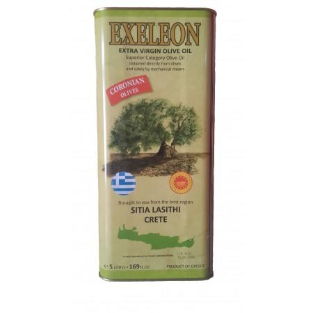 Нефильтрованное греческое оливковое масло первого холодного отжима Exeleon Extra Virgin Olive Oil 5 л